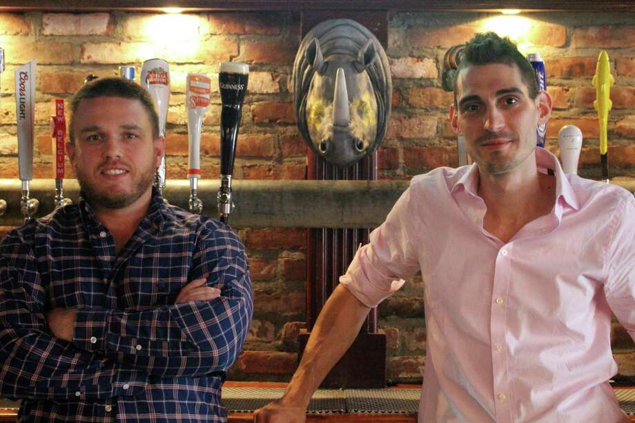 Owners Casey Dohme, left, and Matt Bacco are preparing to open a new Blind Rhino location in Bridgeport. Photo: Jordan Grice / Hearst Connecticut Media / Connecticut Post