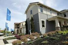 A model home is photographed on Mare Island in Vallejo, Calif., on Thursday, May 10, 2018. Homebuilder Lennar has teamed up with Amazon to offer homes with Alexa technology included.