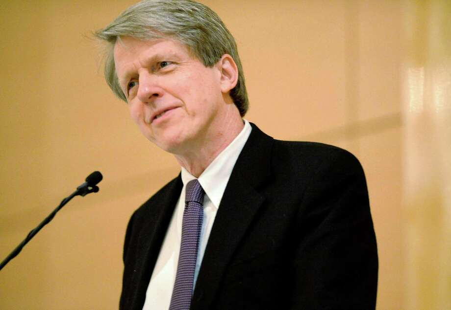 """Robert Shiller, professor of economics at Yale University, who won the Nobel Prize in Economics in 2013 for his modeling of asset-price fluctuations, compared the euphoria toward almost cryptocurrencies to the rise of """"time money"""" in the 1800s. Photo: Bloomberg Photo By Chris Rank. / Bloomberg"""