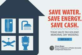 Texas families and businesses can save on the purchase of certain water- and energy-efficient products during the state's Water-Efficient Products and ENERGY STAR sales tax holidays. Both take place Saturday, May 26, through Monday, May 28.