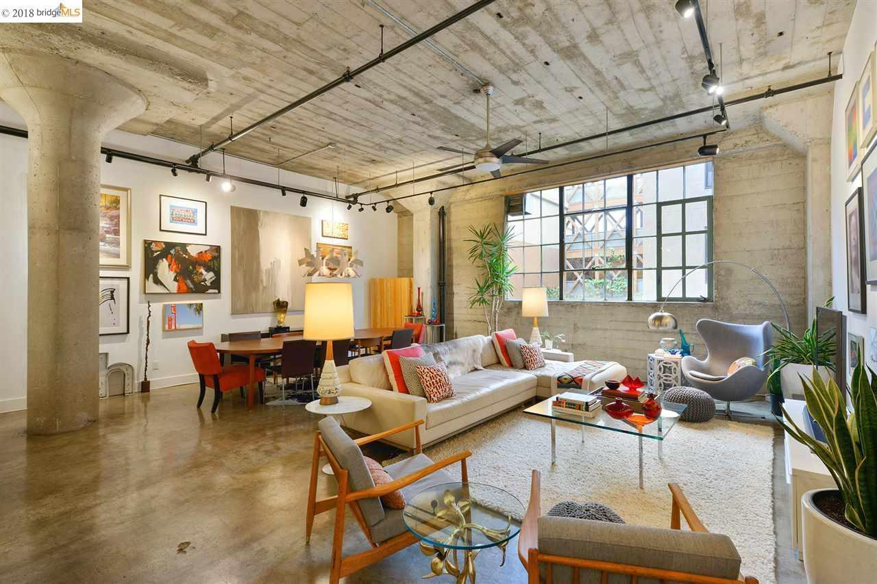 Historic oakland grocery converted into fab live work loft for Decoracion de interiores departamentos modernos