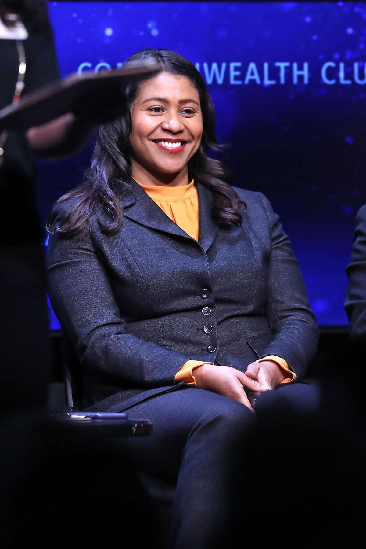 London Breed during San Francisco mayoral debate at Commonwealth Club in San Francisco, CA on Monday, May 14, 2018.