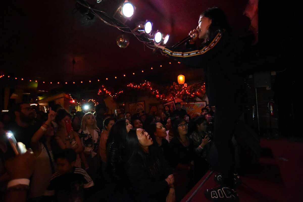 Rapper Ruby Ibarra performs at Bottom of the Hill in San Francisco Saturday May 19, 2018.