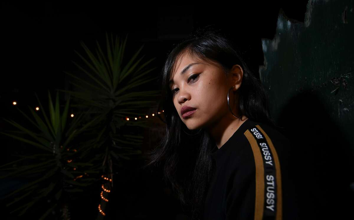 Rapper Ruby Ibarra backstage before her set at Bottom of the Hill in San Francisco Saturday May 19, 2018.