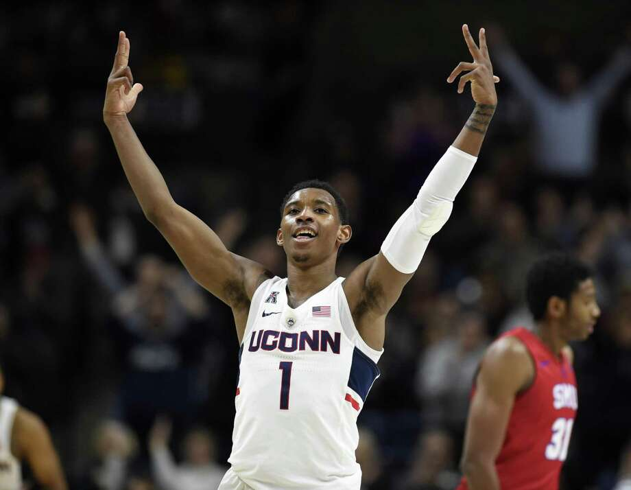 UConn's Christian Vital announced on Twitter on Monday that he will be returning for his junior season. Photo: Jessica Hill / AP / AP2018