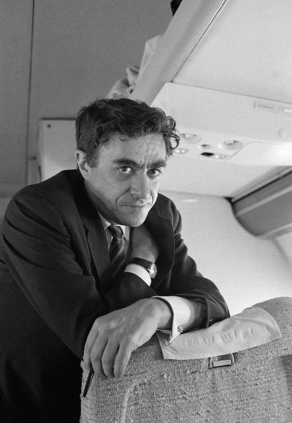FILE -- Richard Goodwin in 1968. Goodwin, a senior adviser and speechwriter for Presidents John Kennedy and Lyndon Johnson whose later work as an author, journalist and political consultant reflected his unswerving liberal outlook, died on Sunday, May 20, 2018, at his home in Concord, Mass. He was 86. (George Tames/The New York Times)