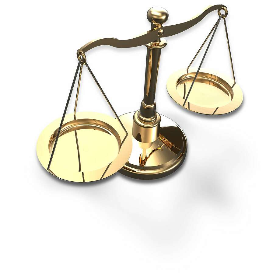 Scales as symbol of law justice court fairness choice 3D render with clipping path Photo: Michael Brown, Fotolia