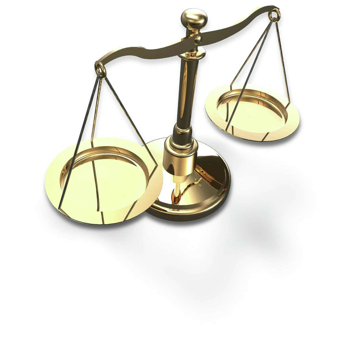 Scales as symbol of law justice court fairness choice 3D render with clipping path