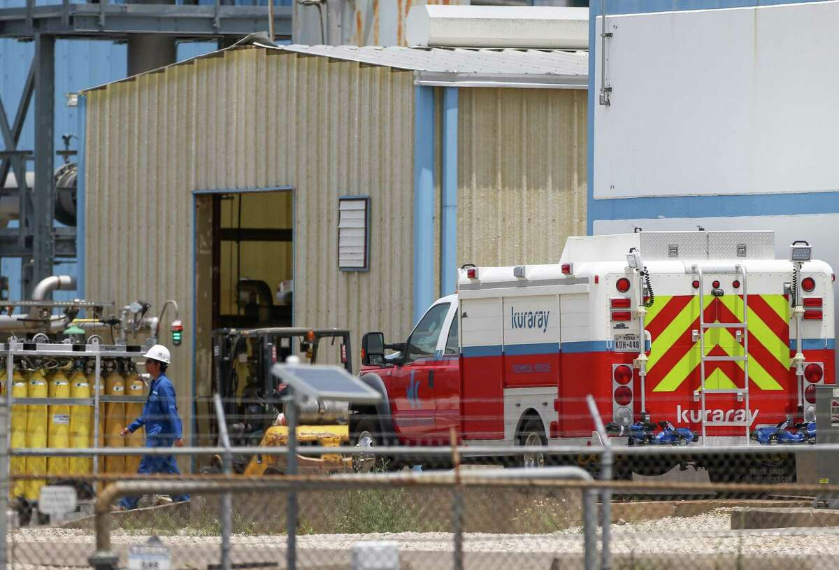 A Kuraray technical rescue vehicle seen inside the Kuraray EVAL plant after a fire injured 22 workers Saturday, May 19, 2018, in Pasadena, Texas. ( Godofredo A. Vasquez / Houston Chronicle )
