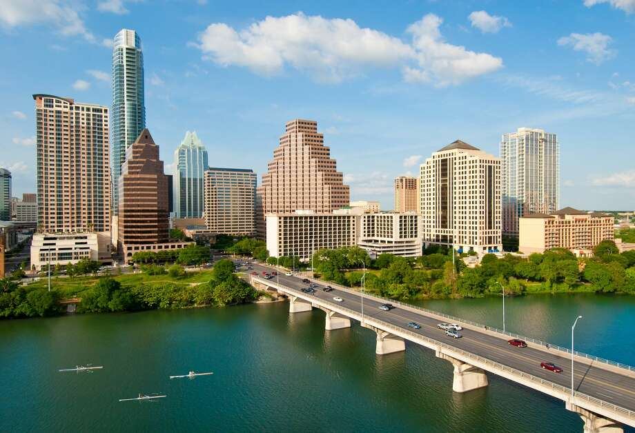 10) Austin, TX Metro Movers Applying: 2.3 percent Open Jobs: 36,304 Median Base Salary: $49,560 Photo: Don Klumpp/Getty Images