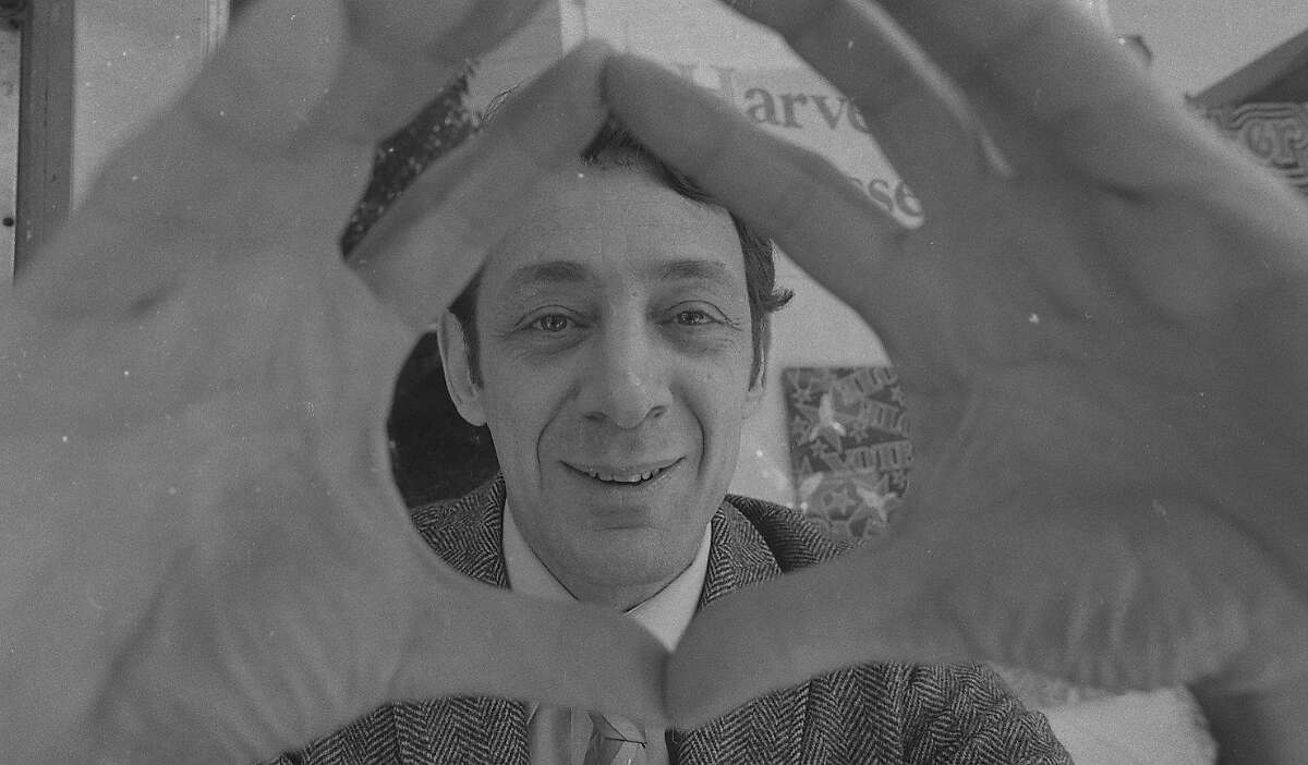 Harvey Milk during his campaign for the California State Assembly. 03/11/1976