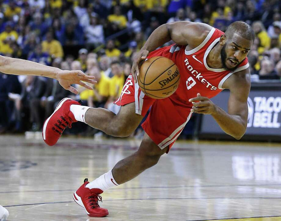 Chris Paul's best outing in the conference finals was the Game 1 loss and he was hobbled during the Game 2 victory. Photo: Michael Ciaglo, Houston Chronicle / Houston Chronicle / Michael Ciaglo