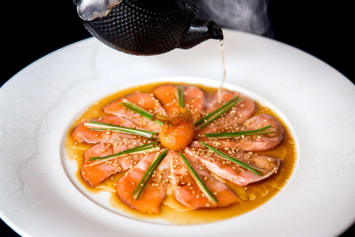 Salmon sashimi at Nobu. Nobu Houston will open June 1.