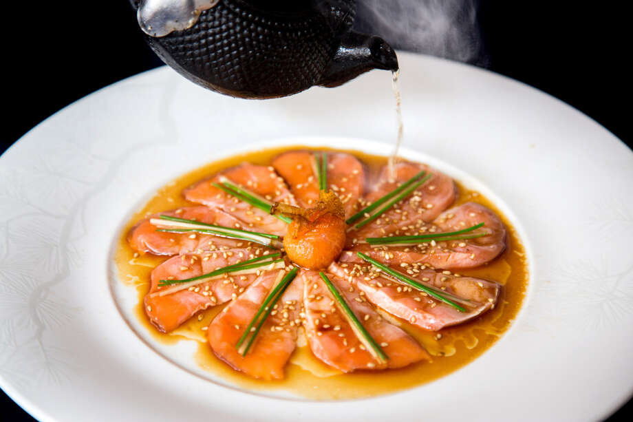 Salmon sashimi at Nobu. Nobu Houston will open June 1.