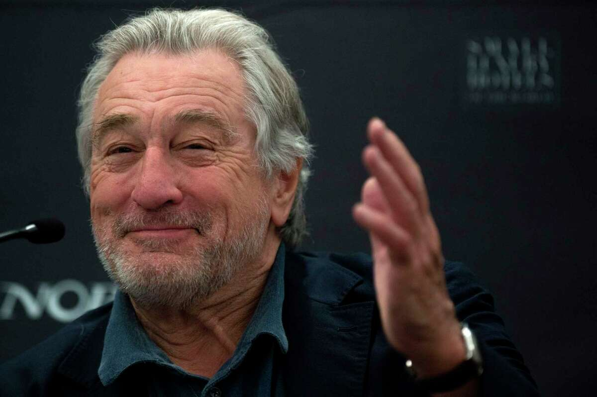 Actor Robert De Niro gives a press conference during the opening of the new Nobu Hotel Marbella, on May 16, 2018 in Marbella.