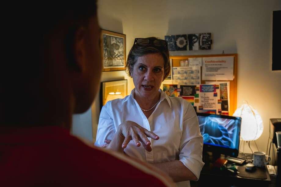 Emily Segal, a Senior Social Worker and Clinical Supervisor at Family Centers' School Based Health Center in Stamford High School. Photo: Carl Jordan Castro / Connecticut Health I-Team / CARL JORDAN CASTRO PHOTO