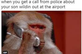 Twitter uses enjoyed cracking jokes after Dawkins, a Rhesus macaque, escaped his crate at the San Antonio International Airport.