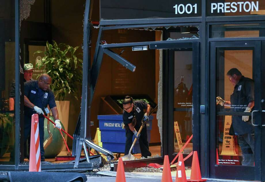 Thieves attempted to steal the ATM machine inside the Harris County Administration Building at 1001 Preston Street Tuesday, May 22, 2018, in Houston. ( Godofredo A. Vasquez / Houston Chronicle ) Photo: Godofredo A. Vasquez / Houston Chronicle