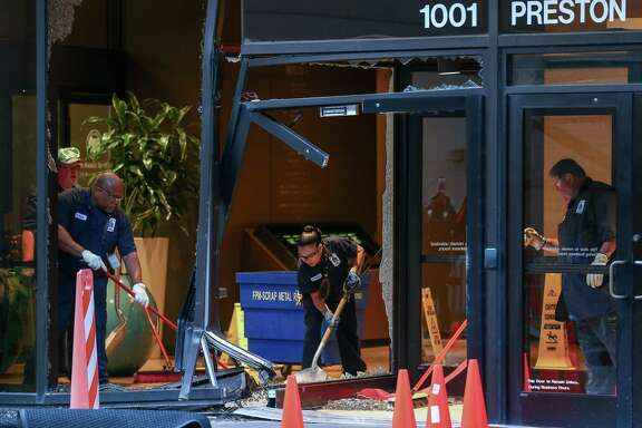 Thieves attempted to steal the ATM machine inside the Harris County Administration Building at 1001 Preston Street Tuesday, May 22, 2018, in Houston. ( Godofredo A. Vasquez / Houston Chronicle )