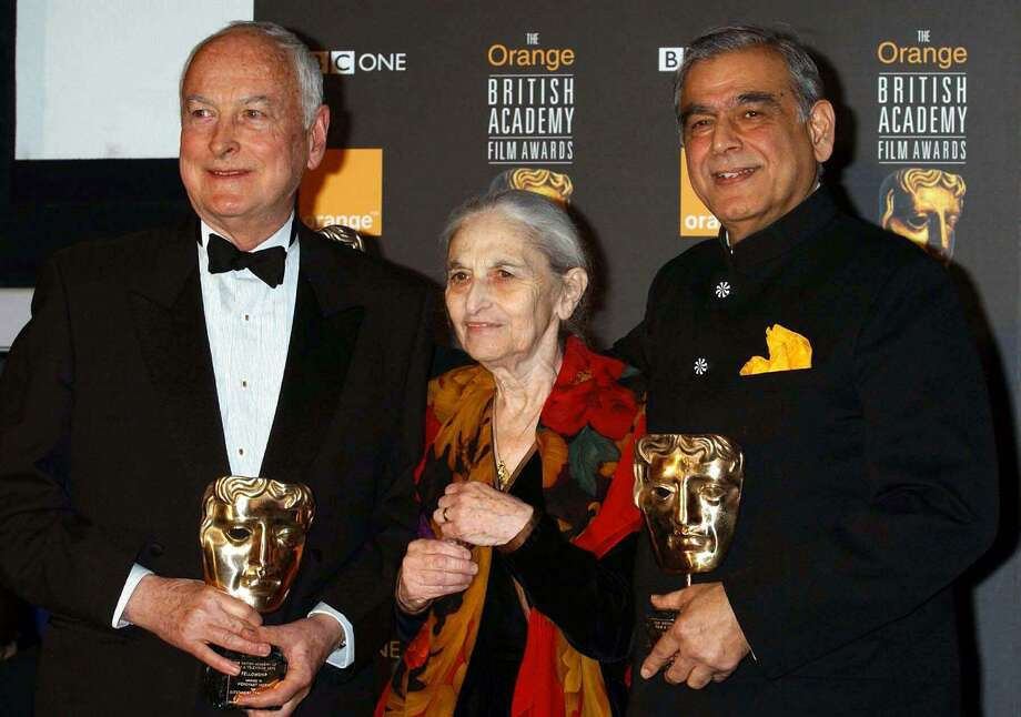 "Writer-director James Ivory, left, screenwriter Ruth Pravel Jhabvala and producer Ismail Merchant teamed up for a series of art-house hits in the 1980s and 1990s, including ""A Room with a View,"" ""Howards End"" and ""The Remains of the Day."" Photo: William Conran / Associated Press / PA"