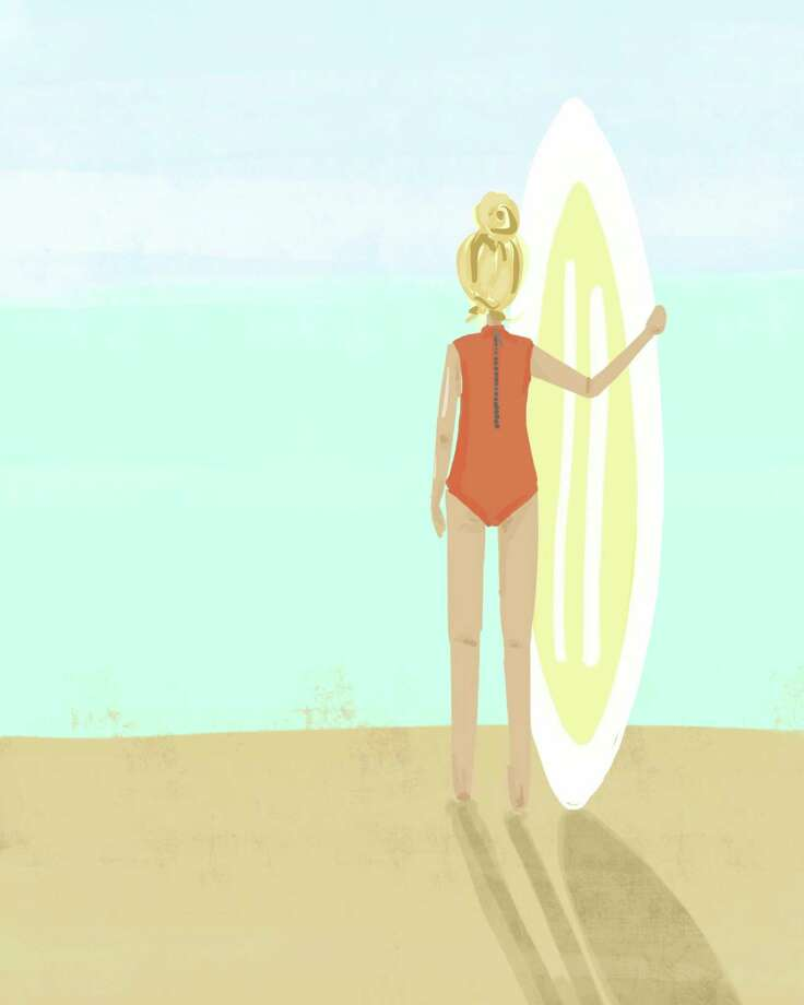 """Surfer Girl,"" by artist Jen Scully, who loves all things coastal. Photo: Contributed Photo"