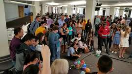 Sophomores in the P-TECH program at a Colorado high school created their own robots to have a 'Battle Bots' activity assisted by IBM mentors.
