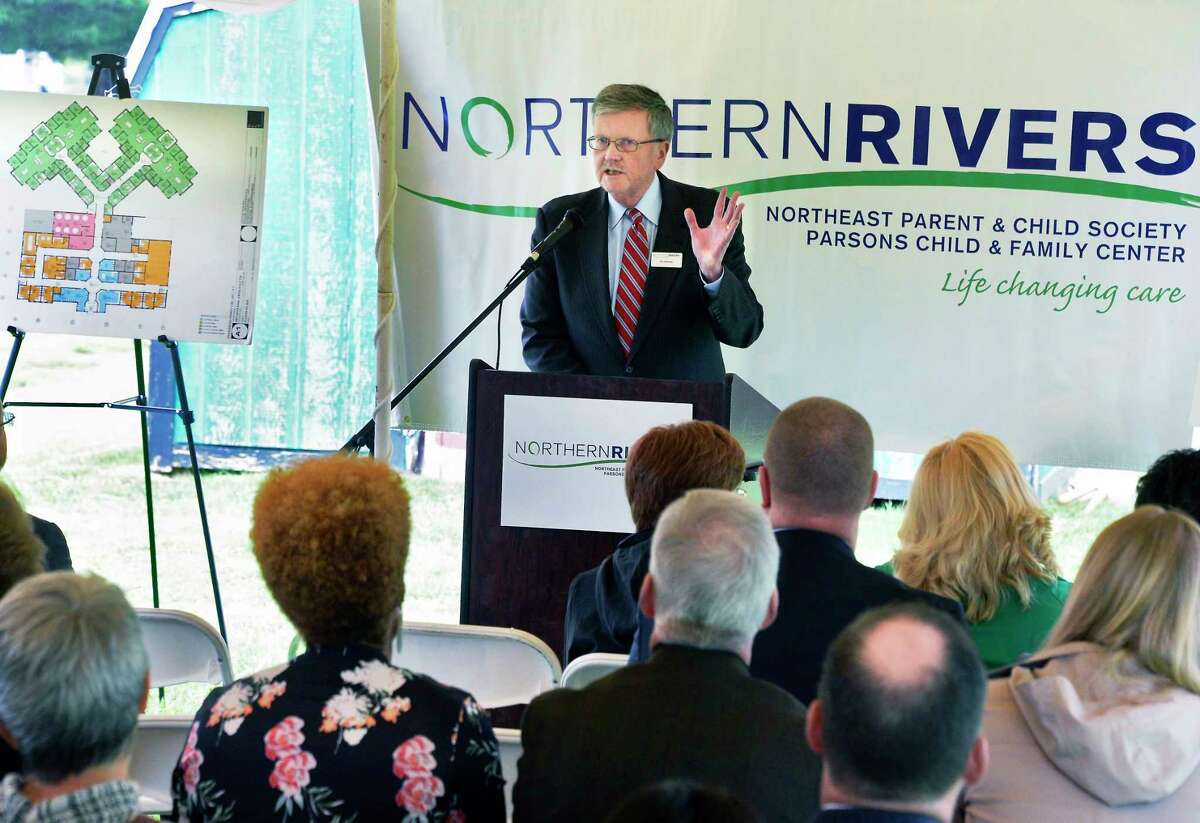 CEO of Northern Rivers William Gettman announces a new $10 million Behavioral Health Care Center on their Academy Road campus during ground breaking ceremonies Tuesday May 22, 2018 in Albany, NY. (John Carl D'Annibale/Times Union)
