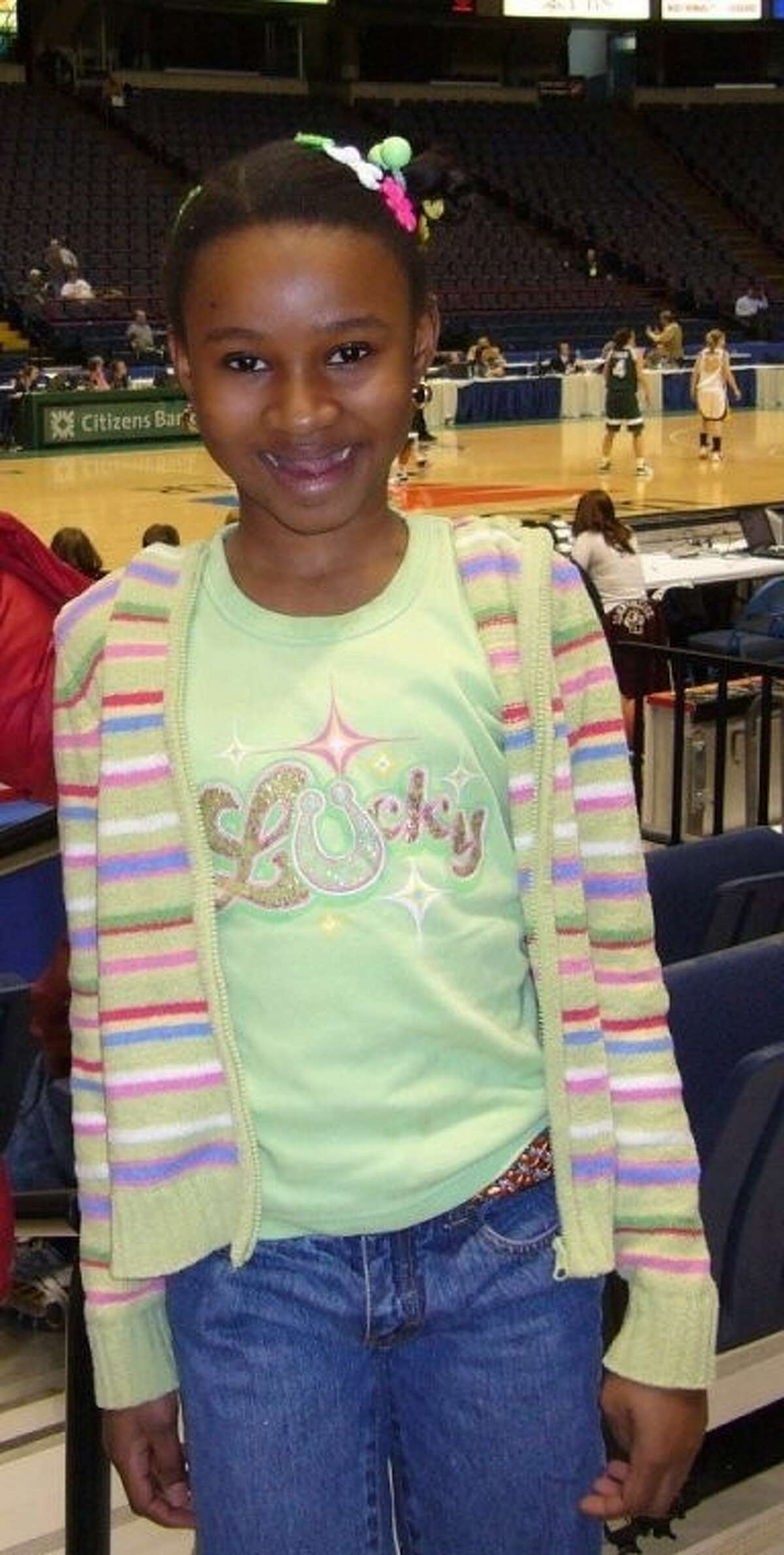 Kathina Thomas at the 2008 MAAC Women's Basketball Tournament at the Times Union Center on March 7, 2008. (Photo courtesy City School District of Albany)