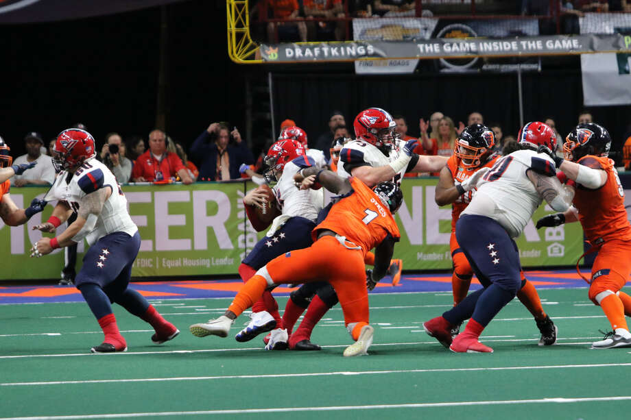 Joe Sykes of the Albany Empire is the Arena Football League's career sacks leader (Photo courtesy Albany Empire) Photo: Photo Courtesy Albany Empire