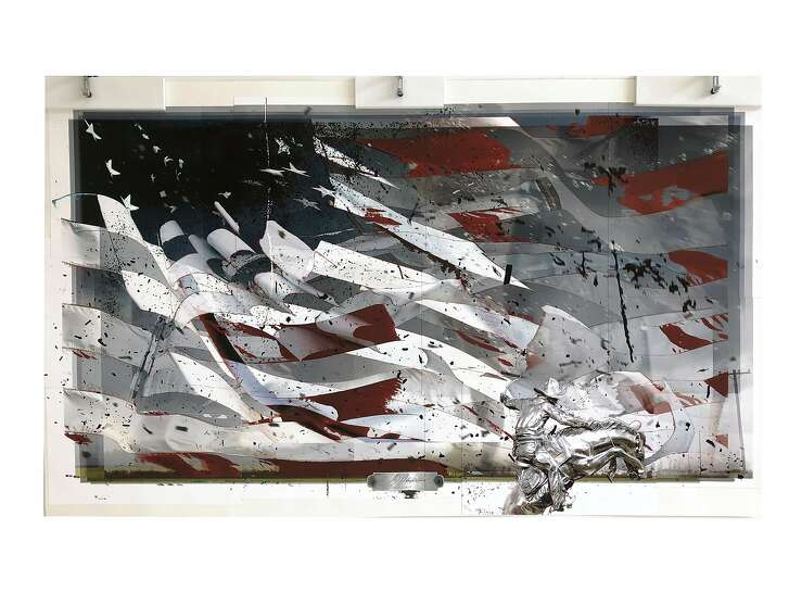 """""""Removing Red,"""" from """"Dark Landscapes for a White House"""" by Deborah Oropallo"""