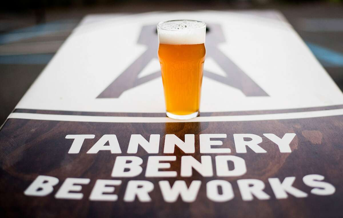 A pint of beer is pictured at Tannery Bend Beerworks in Napa, Calif., on Saturday, Feb. 17, 2018.