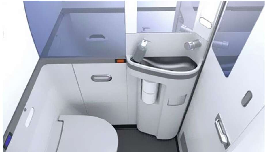Boeing's new, smaller 737MAX lavatory. Photo: Boeing