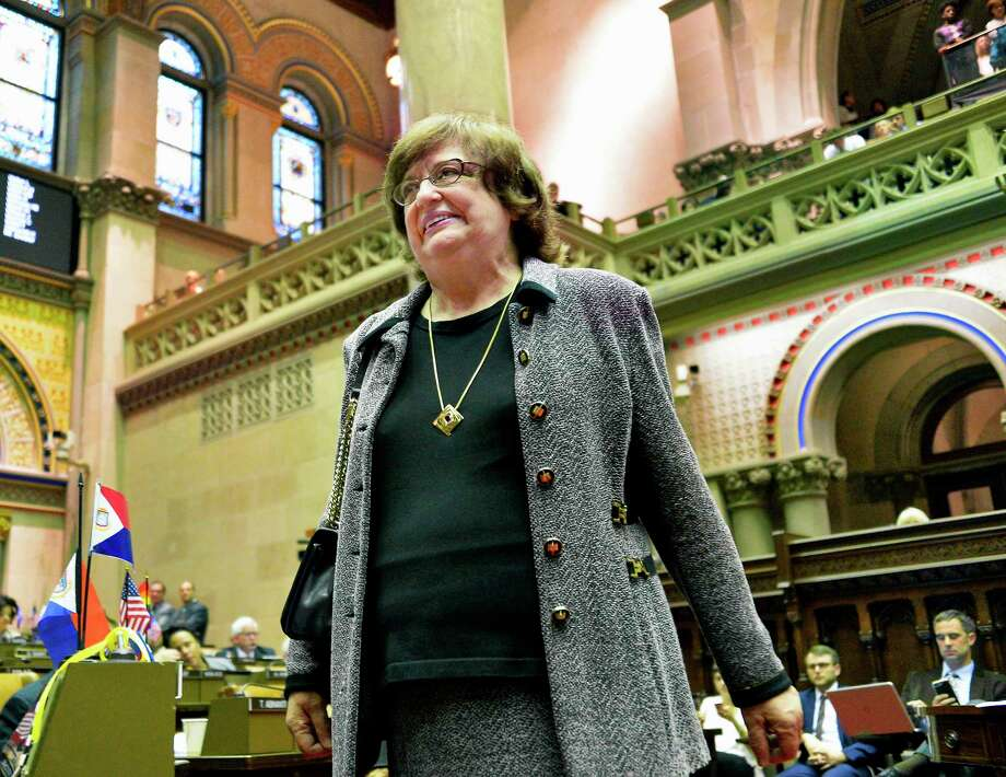 Barbara Underwood enters the Assembly Chamber to be appointed attorney general to fill remainder of Eric Schneiderman's term during a joint legislative session Tuesday May 22, 2018 in Albany, NY.  (John Carl D'Annibale/Times Union) Photo: John Carl D'Annibale, Albany Times Union / 20043870A