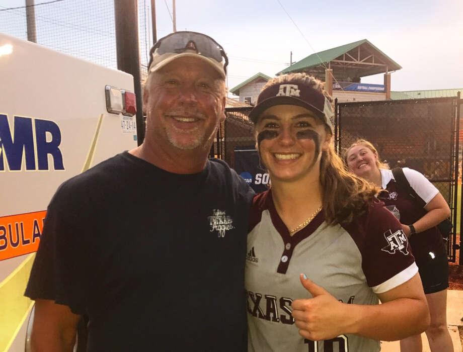 Former Astros relief pitcher John Hudek has been a major influence behind his daughter Sarah's success. Photo: Contributed Photo By Sarah Hudek
