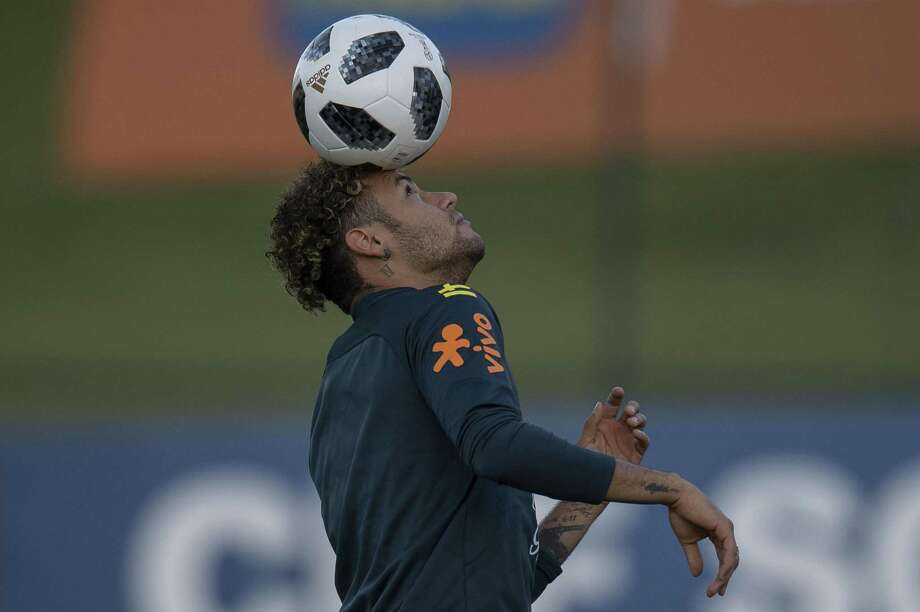 Brazil's Neymar attends a training session of the national football team ahead of FIFA's 2018 World Cup, at Granja Comary training centre in Teresopolis, Rio de Janeiro, Brazil, on May 22, 2018.  / AFP PHOTO / Mauro PIMENTELMAURO PIMENTEL/AFP/Getty Images Photo: MAURO PIMENTEL, Contributor / AFP/Getty Images / AFP or licensors