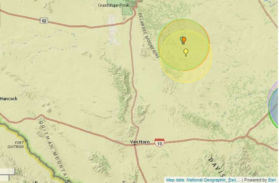 The U.S. Geological Survey reported this week that three earthquakes took place Friday through Sunday north-northeast of Van Horn.