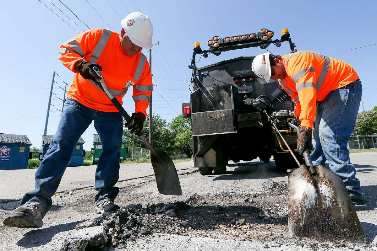 Click through to see which streets had the highest numbers of repairs. Broadway Street Potholes repaired in fiscal year 2018: 407