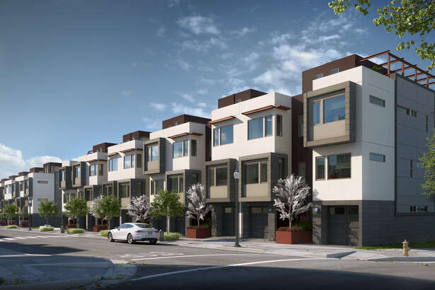 Palisades is Lennar's new development of three-bedroom townhomes at The San Francisco Shipyard. Credit: Transparent House