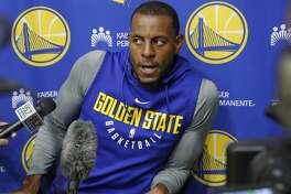 Warriors forward Andre Iguodala will miss Tuesday's Game 4.