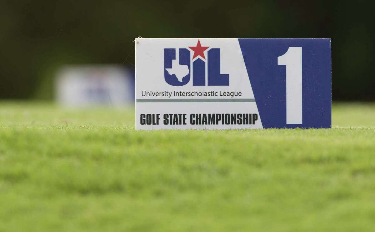 Detail of the first tee box during the final round of the Class 5A UIL State Golf Championships at White Wing Golf Club, Tuesday, May 22, 2018, in Georgetown.