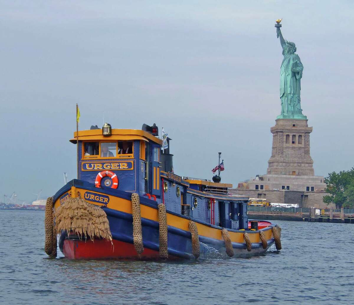 The historic tug Urger, built in 1901 and one of the oldest working tugs in the country and a floating classroom for school kids, is slated to be pulled from the water at Waterford and put on land at a new Thruway rest area at Exit 13, near Canajoharie, angering maritime historians. (Provided)