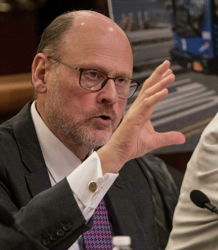MTA chairman Joseph Lhota testifies before the New York State Legislature's Budget Hearing in the Legislative Office Building Thursday, Jan. 25, 2018 in Albany, N.Y. (Skip Dickstein/Times Union)