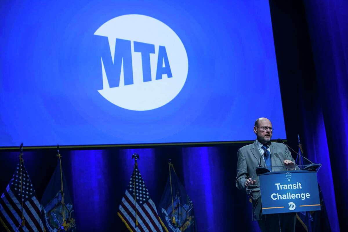 FILE ?- Joe Lhota, chairman of the Metropolitan Transportation Authority, speaks at the MTA Genius Transit Challenge conference at the Hammerstein Ballroom in New York, June 29, 2017. Lhota acknowledged in November that the failing health of New York City?'s subway system imperils not only the city?'s financial future, but the well-being of the surrounding region. (Victor J. Blue/The New York Times) ORG XMIT: XNYT107