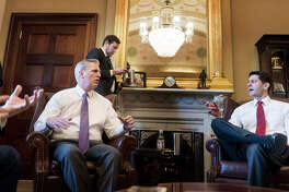 Hoouse Majority Leader Kevin McCarthy, R-Calif. (left) and Speaker of the House Paul Ryan, R-Wis., in Washington on Feb. 8, 2018.