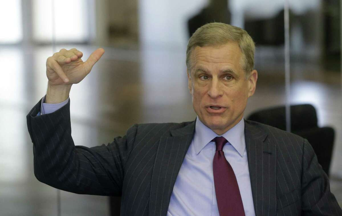 Robert Kaplan, president and CEO of the Federal Reserve Bank of the Dallas, is shown during an interview Tuesday, May 22, 2018, in Houston ( Melissa Phillip / Houston Chronicle )