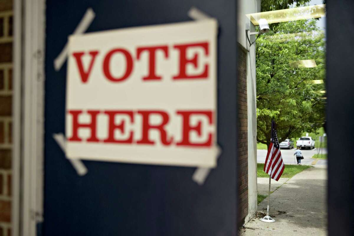 Voters cast their ballots in primary runoffs Tuesday.