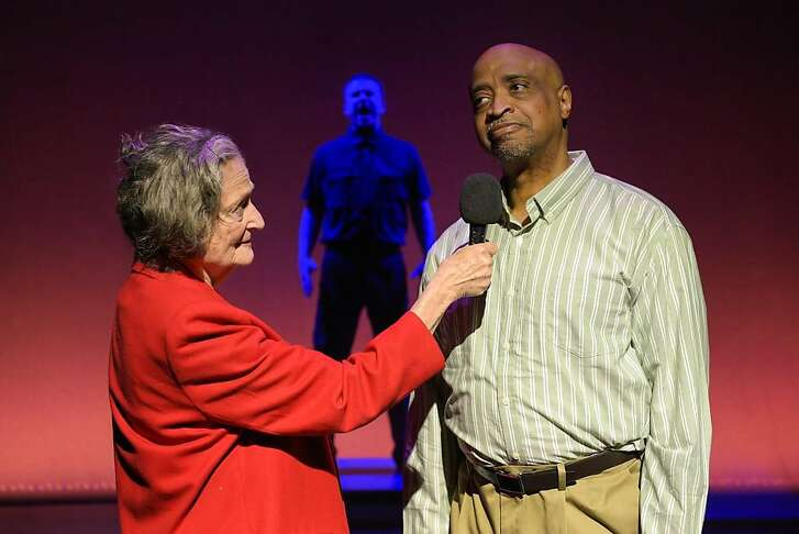 """From left:��Patricia Silver, Douglas B. Giorgis and Rhonnie Washington in PlayGround's """"Scapegoat."""""""