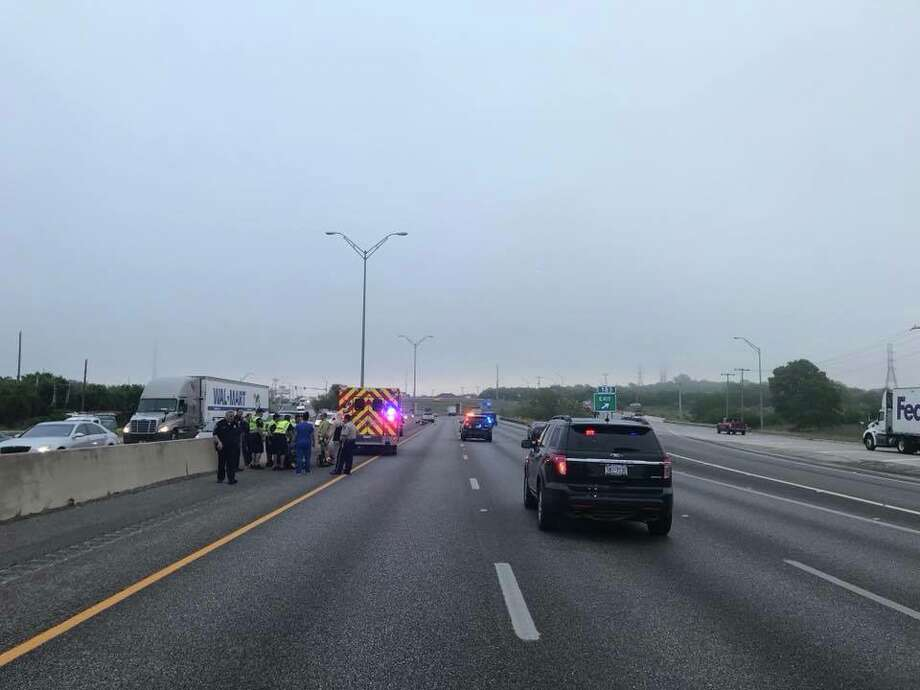 Police announced on social media around 7:40 a.m. that they would be closing the northbound I-35 lanes near Engel Road, where the crash occurred. Photo: New Braunfels Police Department