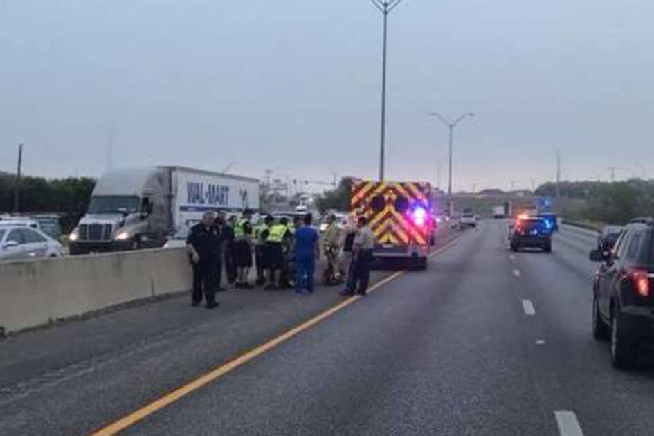 Police announced on social media around 7:40 a.m. that they would be closing the northbound I-35 lanes near Engel Road, where the crash occurred.