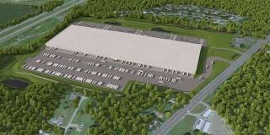 An artist's rendering of a planned warehouse facility on Route 9 in Schodack. Photo: Provided By Scannell Properties